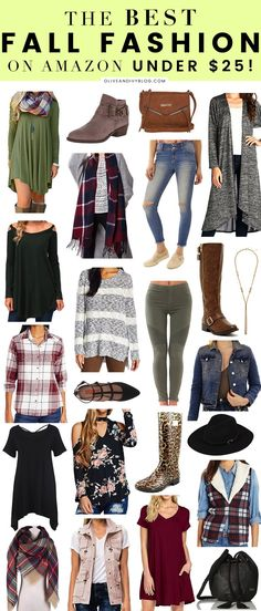 Need to update your wardrobe for fall, but don't want to break the bank in doing so? Check out this round up of the BEST fall fashion on Amazon- all for under $25!