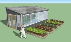 Backyard Year Round Greenhouse Pre-fabricated solar energy efficient greenhouse