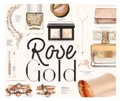 """""""So Pretty: Rose Gold Jewelry"""" by katarina-blagojevic ❤ liked on Polyvore featuring Cristina Ortiz, Rebecca Minkoff, Shay, EF Collection, Calvin Klein, Givenchy, Banana Republic, Forever 21, Bare Escentuals and Nails Inc."""