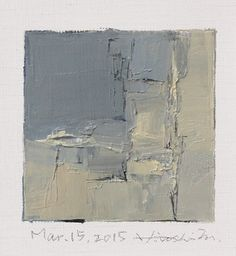 Mar. 15, 2015 - Original Abstract Oil Painting - 9x9 painting (9 x 9 cm - app. 4 x 4 inch) with 8 x 10 inch mat