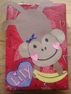 Monkey Valentines Day Box