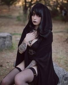 Gothic fashion 302656037460155918 - Satan Eternal Source by jeanmarcpochon Goth Beauty, Dark Beauty, Dark Fashion, Gothic Fashion, Emo Fashion, Estilo Dark, Hot Goth Girls, Girls Are Awesome, Lady
