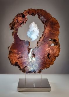 25 DIY Wood Projects Wood is a very versatile material… it can be used for DIY home decor projects, Diy Wood Projects, Projects To Try, Marble Wood, Creation Deco, Steel Sculpture, Crystal Cluster, Wood Art, Photo Art, Hand Carved