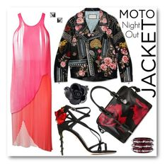 """""""Night Rider"""" by littlesaraha ❤ liked on Polyvore featuring Dolce&Gabbana, Oscar de la Renta, Alexander McQueen, STELLA McCARTNEY, Gucci, Burberry and Waterford"""