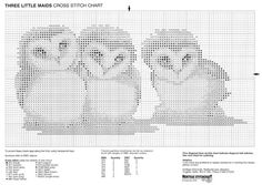 think I may do each owl in its own fun colour. Cross Stitch Owl, Cross Stitch Boards, Just Cross Stitch, Cross Stitch Bookmarks, Beaded Cross Stitch, Cross Stitch Animals, Counted Cross Stitch Patterns, Cross Stitch Designs, Cross Stitching
