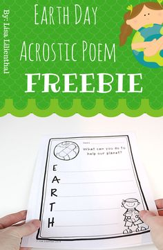 Earth Day Acrostic Poem ~ Freebie! by Lisa Lilienthal