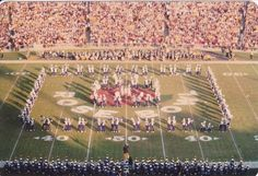 The Husky Marching Band at halftime of the Rose Bowl.
