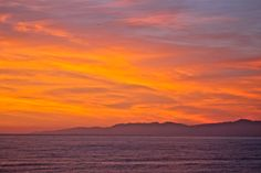 Looking North~   South Bay, Ca.  Photo: Randy Ruby...my home tropical sunset!!!!!  Thank you Randy!!!!