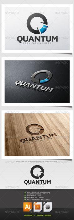 Quantum - Logo Design Template Vector #logotype Download it here: http://graphicriver.net/item/quantum-logo/5531858?s_rank=96?ref=nexion