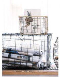 die besten 25 metallk rbe ideen auf pinterest drahtkorb aufbewahrung regale mit k rben und. Black Bedroom Furniture Sets. Home Design Ideas