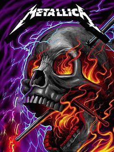 Metallica Concert, Metallica Art, Hard Rock, Metal Band Logos, Rock Band Posters, Heavy Metal Art, Studios, Music Album Covers, Power Metal
