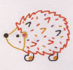 Anchor Hedgehog Freestyle Embroidery 1st Kit Craft