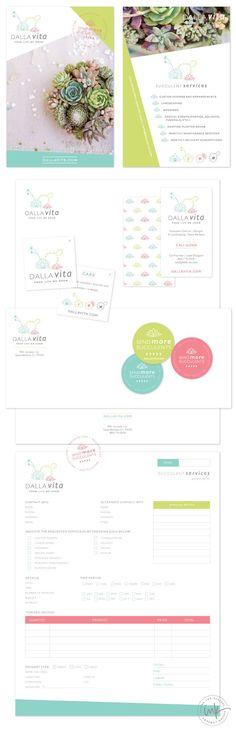 Brand Launch: Dalla Vita | Designed by Salted Ink | #brand #branding #logo #design #print