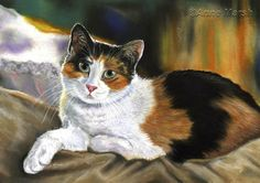 CALICO CAT SERENITY LIMITED EDITION PRINT OF PAINTING ANNE MARSH ART | eBay