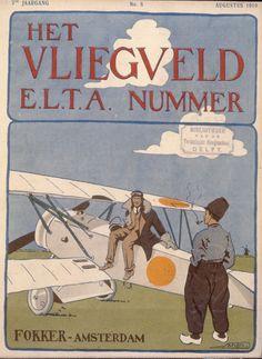Vintage Poster - Fokker Amsterdam.