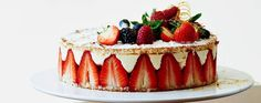 James Martin's summery strawberry gateau