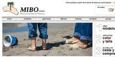 Web de venta online de Abarcas Menorquinas de la empresa MIBO Cosits en Es Migjorn Gran (Menorca)