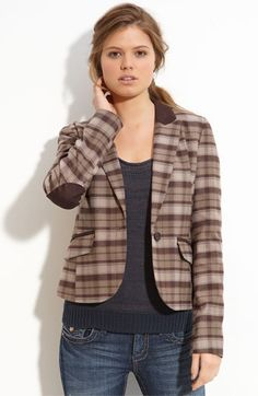 There's something about plaid blazers with elbow patches...:)