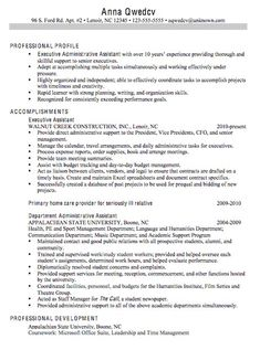 chronological resume sample for an executive administrative assistant this resume example has a span of unemployment and no college degree. Resume Example. Resume CV Cover Letter
