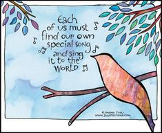 """Check out this week's Zenspirations - BLOG """"The Song I Sing"""" to discover your special gifts."""
