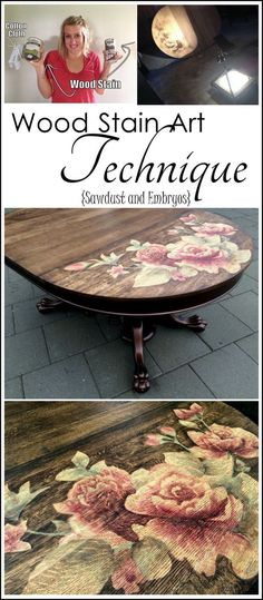 DIY Furniture Plans & Tutorials : Use wood stain to make artwork! CRAZY time-lapse video! {Sawdust and Embryos}