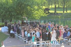 Andrea and Tom's White Pines Wedding - MDM Entertainment Chicago Wedding Venues, Unique Wedding Venues, Wedding Ceremony, White Pines, Dolores Park, Entertainment, Outdoors, Celebrities, Beautiful
