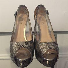 Guess Snakeskin Heels Guess snakeskin Heels Guess Shoes Platforms