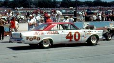 1965 - Parnelli Jones' ( Ford @ the Milwaukee Mile Parnelli Jones, Nascar Race Cars, Smokey And The Bandit, Ford Galaxie, Vintage Race Car, Real Racing, Auto Racing, Drag Cars, Car And Driver