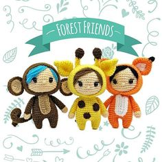 NEW PATTERN ALERT! Take a walk on the wild side with these Forest Friends. This 10-page pdf contains pattern for three 5-inch Forest Friends & over 30 step-by-step photos to help you with the difficult bits. You can buy the pattern at my Ravelry and Craftsy stores. Have fun hookin'! ❤ #amigurumi #crochet #crochettoys #toydesign #forestfriends #amigurumipattern #haveyouseenthefox #theyfoundthefox #makeamiguruminotwar #twistedfibers #talesoftwistedfibers