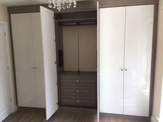 Internal chest and pull down rail. If you are short on space this is a great way of keeping everything hidden but utilising the space available Tall Cabinet Storage, Locker Storage, Fitted Bedrooms, Fitted Wardrobes, Space Available, Bespoke Furniture, Chest Of Drawers, Armoire, Flooring