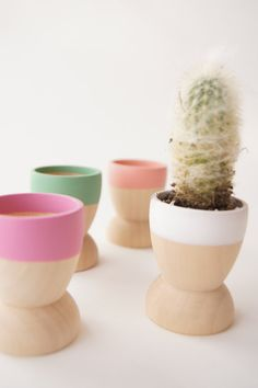 Mini Planters set of 4, Spring, Natural Wedding, Mothers Day. $29.00, via Etsy.