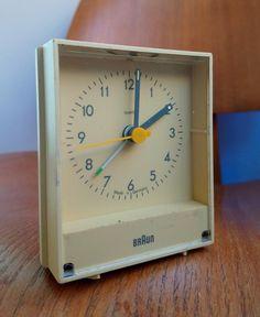 BRAUN AB 4 Quartz Alarm Clock Dietrich LUBS Modernist Design Dieter Rams 1980s | eBay