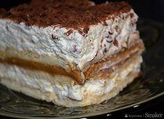 Krówka na herbatnikach - warstwowa Flan, What To Cook, Tiramisu, Cheesecake, Food Porn, Pie, Tasty, Cookies, Baking