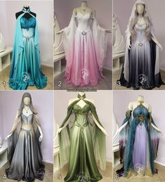 Which Gown would you like t… – Guten Morgen Prinzessin! Pretty Outfits, Pretty Dresses, Beautiful Dresses, Fantasy Gowns, Fantasy Art, Fairy Dress, Cosplay Dress, Elven Cosplay, Medieval Dress