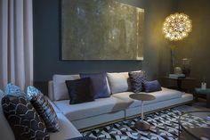 CASA COR SC | Soul Loft, ambiente assinado pelo Logo Arquitetura com papel de parede, almofadas, xales e tecido para  revestimento  Spengler Decor. Foto:Cicero Viegas  #casacorsc #logoarquitetura #SpenglerDecor