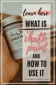 Everything you need to know about how to use chalk paint. Plus 4 DIY chalk paint recipes, chalk paint tips and answers to frequently asked questions. What Is Chalk Paint, Using Chalk Paint, Chalk Paint Projects, Wooden Pallet Projects, Woodworking Projects Diy, Diy Chalk Paint Recipe, Craft Projects For Adults, Craft Ideas, Fun Arts And Crafts