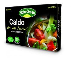 Zelenjavne kocke za pripravo juh in omak (NaturGreen, 8 kock)