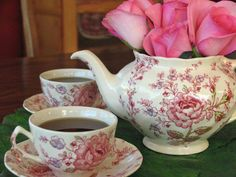 Tea and Pink Roses