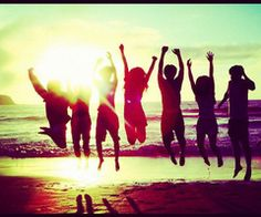 go to the beach with best friends-done! :)