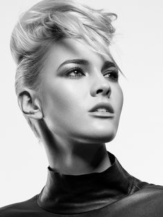 Black and white beauty portrait - Monty (Next Models) - photo by Michael Woloszynowicz