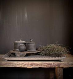 Grijs houten Tray Dienblad