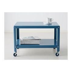 What S Worse Than No Refreshments Nowhere To Put Them The Boskel Rolling Coffee Table From Ikea Can Double As A Serving Station Right Near
