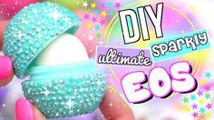 DIY SPARKLY EOS LIP BALM! - YouTube