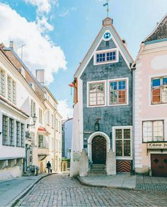 Exploring pretty Tallinn, Estonia.