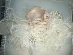Wedding Sash, Bridal Sash, Flower Girl, Flower Sash, Childrens Sash, Maternity Sash / Shades of Cream Flower Sash