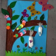 cycle life of butterfly bulletin board  |   preschool crafts and worksheets