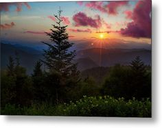 Great Smoky Mountains Metal Print featuring the photograph Smoky Mountain Sunset by Christopher Mobley