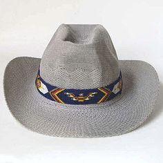 Seed Bead Hat Band Patterns | This could also be worn as a native american inspired hand beaded belt