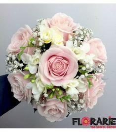 Buchet mireasa trandafiri roz si frezii Wedding Flowers, Wedding Day, Bridal Bouquets, Wax, Floral Wreath, Wreaths, Nails, Valentines Day Weddings, Wedding