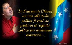 """La herencia de Chávez va más allá de la política formal, se queda en el """"espíritu"""" político que marca una generación. @Candidman"""